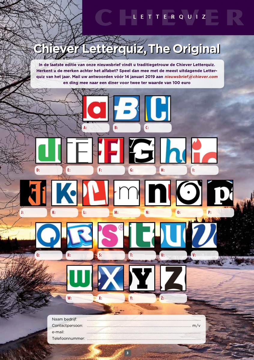 boek9 nl  u2013 chiever letterquiz 2018